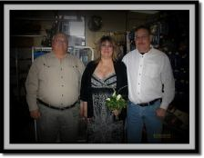 John with Valerie and Rich, Chrome Shop Wedding, 10/26/2013.