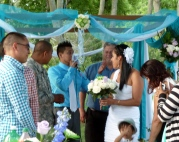 Marcelino saying his vows to Melina