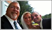John has selfie time with Lauren and Joseph 10/8/2016